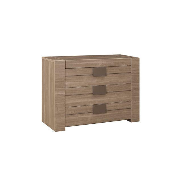 Commode 3 tiroirs décor chêne - Agathe