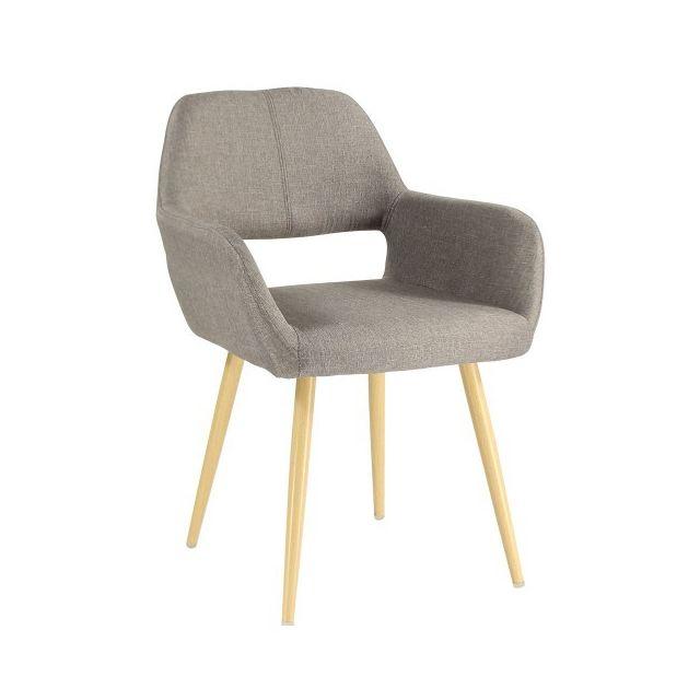 moloo chaise scandinave de salle manger tissu taupe jane pas cher achat vente chaises. Black Bedroom Furniture Sets. Home Design Ideas