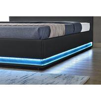 lit coffre 160x200 achat lit coffre 160x200 pas cher soldes rueducommerce. Black Bedroom Furniture Sets. Home Design Ideas
