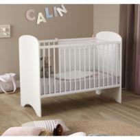 DOMIVA - Lit bébé sweety blanc 60x120