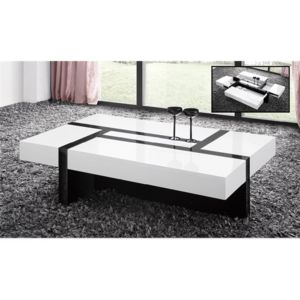 chloe design table basse design minela noir et blanc pas cher achat vente tables basses. Black Bedroom Furniture Sets. Home Design Ideas