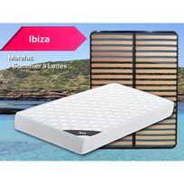Altobuy - Ibiza - Pack Matelas + Lattes 140x190