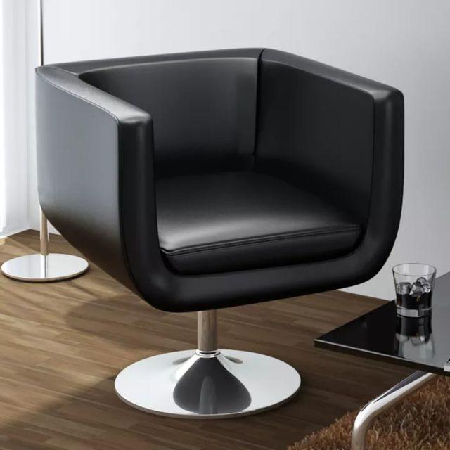 Vidaxl Chaise de bar Cuir artificiel Noir | Noir
