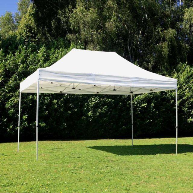 Mobeventpro Tente pliante 3x4,5m 300g/m² 40MM Blanche