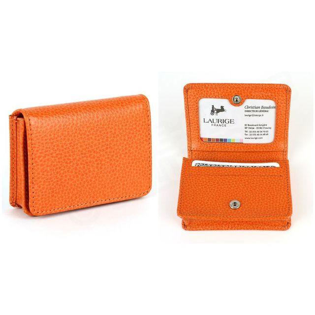 Volumica - Etui cartes de visite cuir Orange Beaubourg - pas cher ... 79efa0fd56b