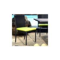 wood en stock chaise en rsine tresse pour jardin et intrieur - Chaise En Resine Tressee