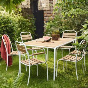 Bois Dessus Bois Dessous - Salon de jardin en bois et métal Fsc 6 ...