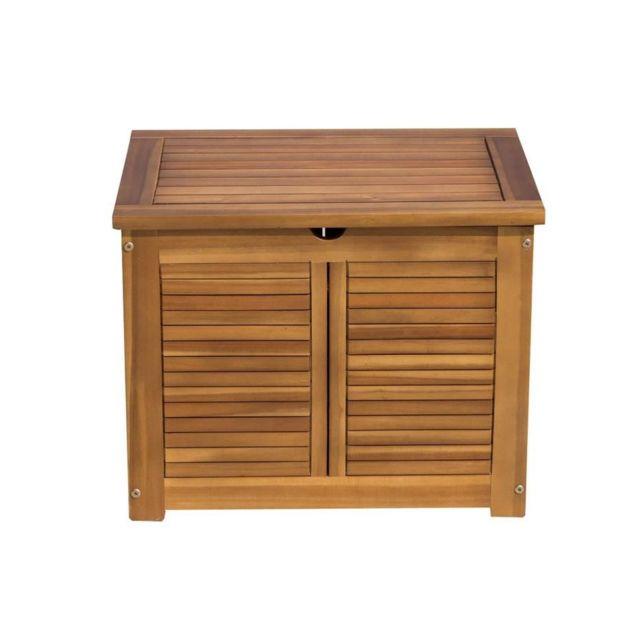 finlandek coffre de rangement de jardin en bois d 39 acacia naturel pas cher achat vente. Black Bedroom Furniture Sets. Home Design Ideas