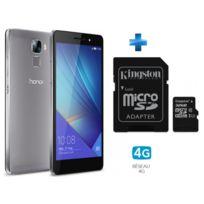 HONOR - 7 Grey + KINGSTON 32GB microSDHC Class 10 UHS-I 45MB/s Read Card + SD Adapter SDC10G2/32GB