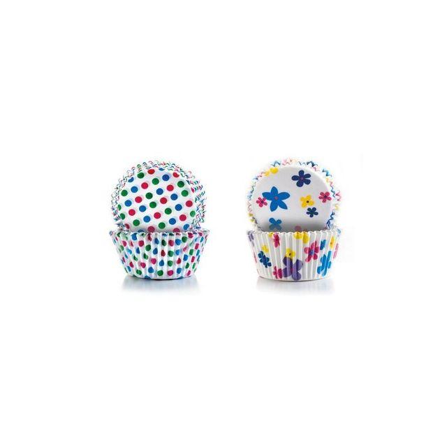 Ibili Capsule Cupcake Pois+FLEURS 50+50 pcs