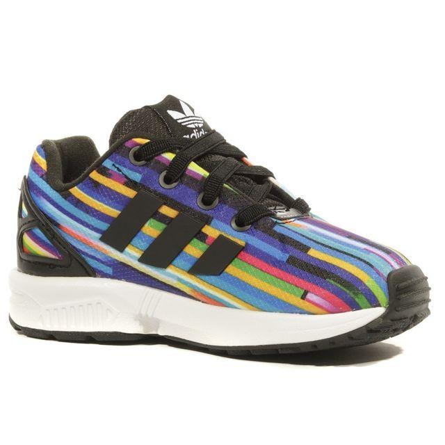 ZX Flux EL Fille Chaussures Multi couleur Multi couleurs 21