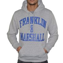 Franklin & Marshall - Franklin Marshall - Sweat à Capuche - Homme - Fm Sweat - Gris Bleu