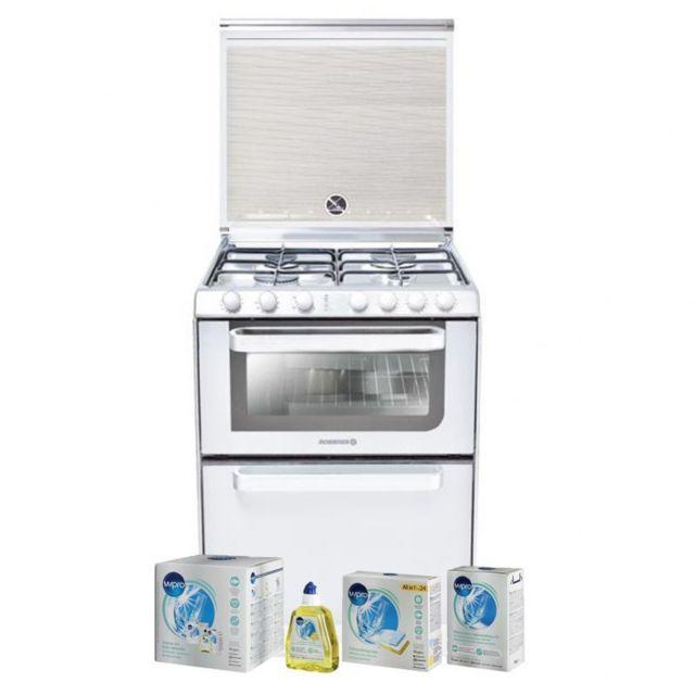 Rosières Rosieres Lave-vaisselle posable blanc 6 Couverts combiné Four Table de cuisson Classe A