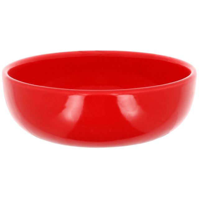 Promobo Bol A Soupe Platine Petit Déjeuner Design Slim 15cm Rouge