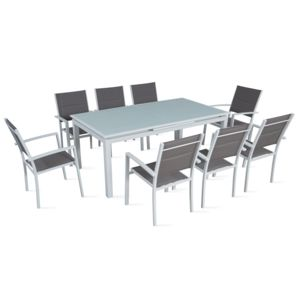 boutique jardin table de jardin extensible 180 240 cm 8 places pas cher achat vente. Black Bedroom Furniture Sets. Home Design Ideas