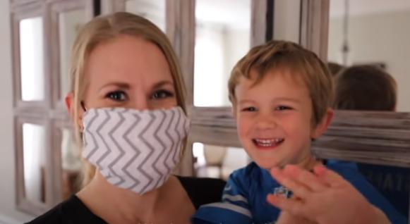 masque DIY sans machine à coudre