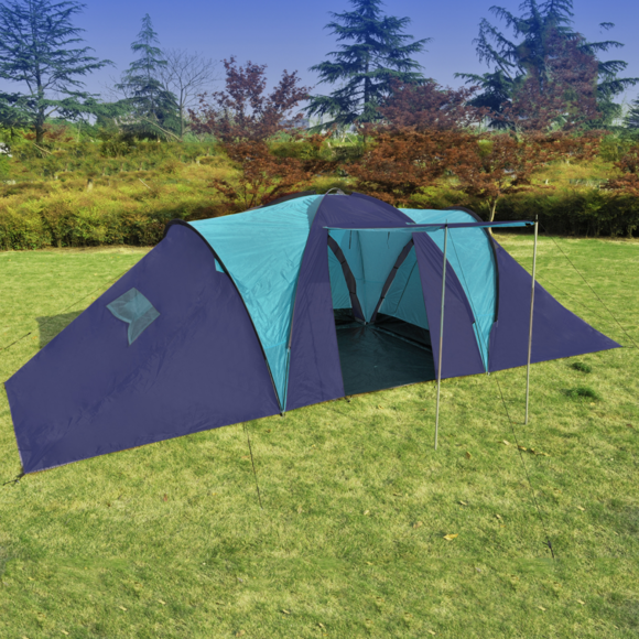 Rocambolesk - Superbe Tente dôme familiale 9 places bleue neuf