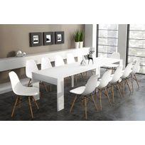 Home Innovation - Table de Salle à Manger extensible jusqu'à 301 cm