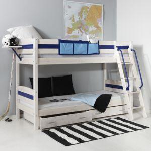 modern design lit superpos avec chelle nclin 90 x 200cm lattes non inclus panneau bleu. Black Bedroom Furniture Sets. Home Design Ideas