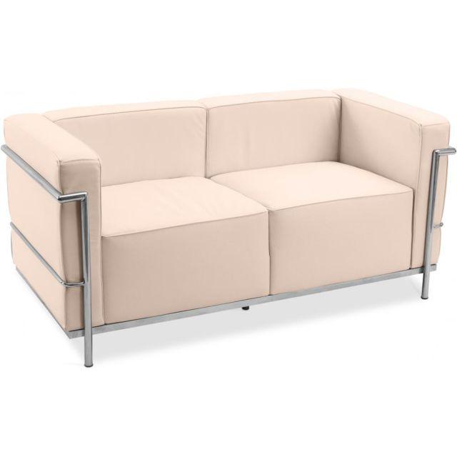 Privatefloor Canapé Lc3 Style Le Corbusier Cuir