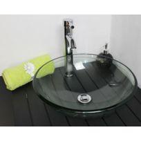Evidence - Vasque ronde en verre transparent Marta