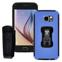 Armor-x - Coque Rugged Galaxy S6 coloris bleu protection intégrale avec écran