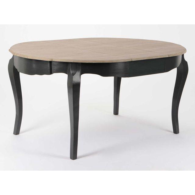 Amadeus Table à manger en bois avec allonge L120/160 cm Celestine