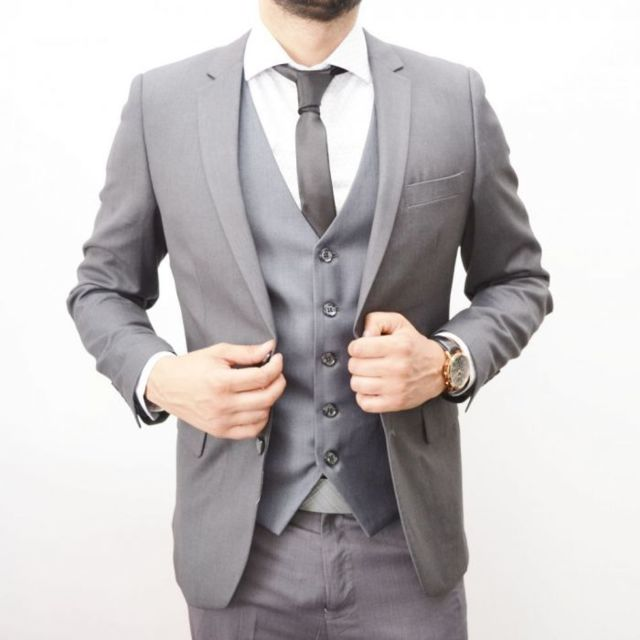 Prestige Man - Costume homme gris 3 pièces - pas cher Achat   Vente ... de388916925