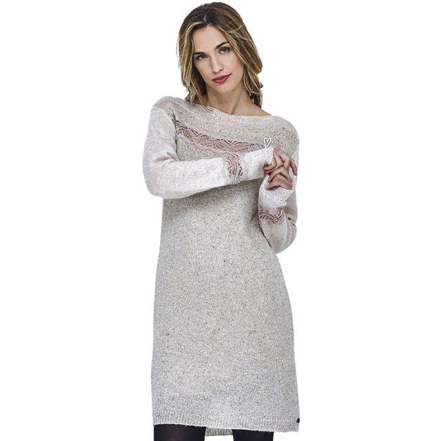 2e8eae75244 ... Mado Et Les Autres - Robe pull manches longues 18HROB112 BE486 Femme  Automne Hiver 2018 ...