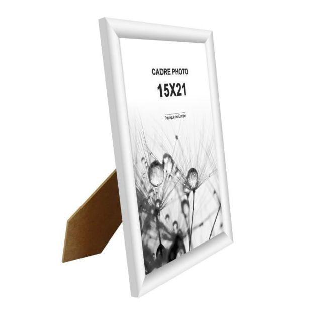 CADRE PHOTO MODENA Lot de 3 cadres photos 15x21 cm Blanc mat