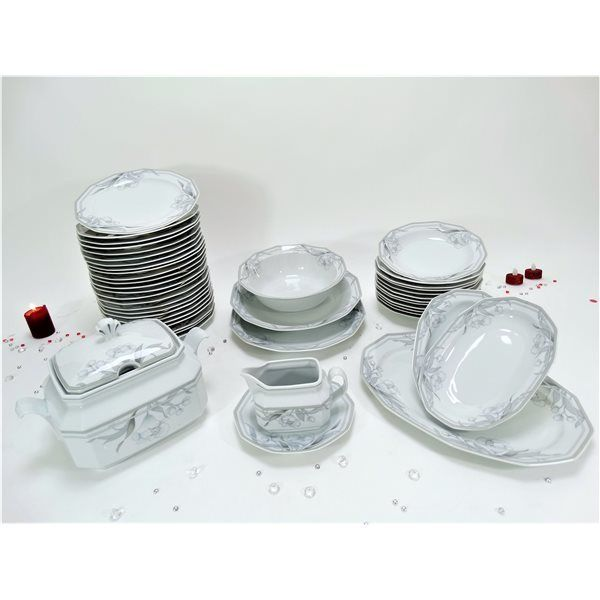 G n rique service de table vaisselle en porcelaine de for Magasin de vaisselle en ligne
