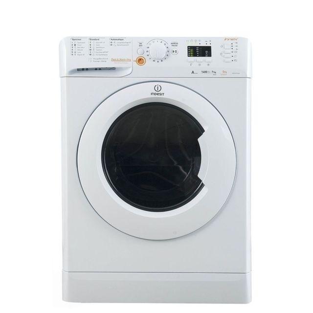 Indesit Lave-linge séchant - XWDA 751480X W FR.1 - Blanc