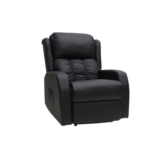 acheter en ligne 7b93a 5d4a0 Fauteuil relax électrique massant noir Galler