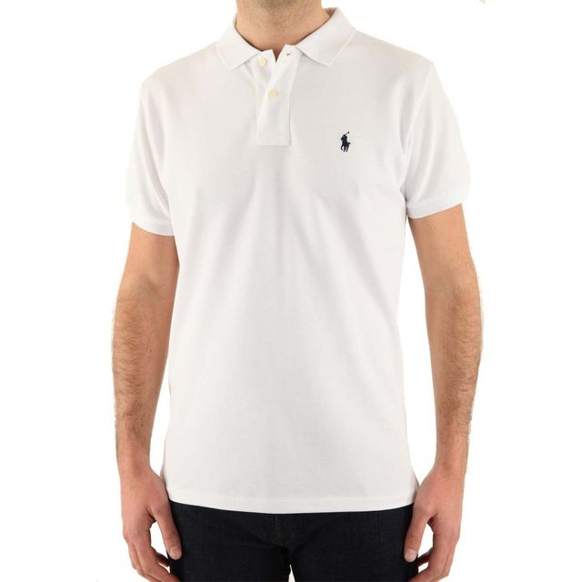 Ralph Lauren - Polo Custom Fit - pas cher Achat   Vente Polo homme -  RueDuCommerce fec6f0f9f352