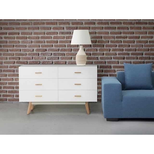 Beliani Commode - buffet - meuble Tv - blanc - Newark