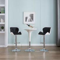 Stylé Fauteuils et chaises gamme Yaren Tabouret de bar Noir Similicuir