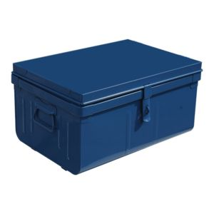 pierre henry malle de rangement m tal 57x42cm safe bleu marine pas cher achat vente. Black Bedroom Furniture Sets. Home Design Ideas