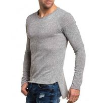 Celebry tees - Pullover fin gris chiné oversize