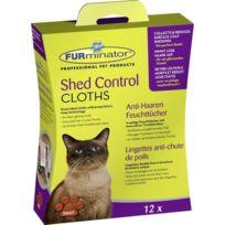 Furminator - Lingettes anti chute de poils pour chat 12 pcs