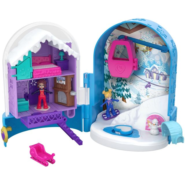 Polly Pocket Mini-Figurine - Le Chalet Enneigé - Fry37