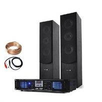 ELECTRONIC STAR - Set Hifi Stereo - USB SD MP3 Ampli + enceintes colonnes Electronic-Star