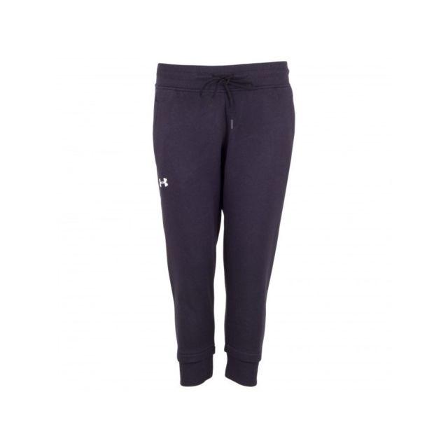 Under Armour - Pantalon de Jogging Slim Leg Crop Noir pour Femmes Taille -  S - pas cher Achat   Vente Pantalon femme - RueDuCommerce fe1449bde73