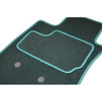 Ad-tapis-auto - Tapis Citroen Ds4 - 2 Avants + 1 arriere + 1 coffre du 2011 au ce jour, Tapis Etile Vert sur mesure
