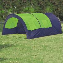 Vimeu-Outillage - Tente dôme familiale 6 places bleue et verte