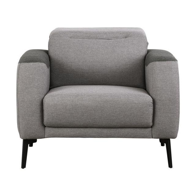 Moloo Lift-fauteuil têtière relevable Mix tissu gris