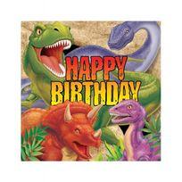 Creative - Serviettes anniversaire dinosaures x16