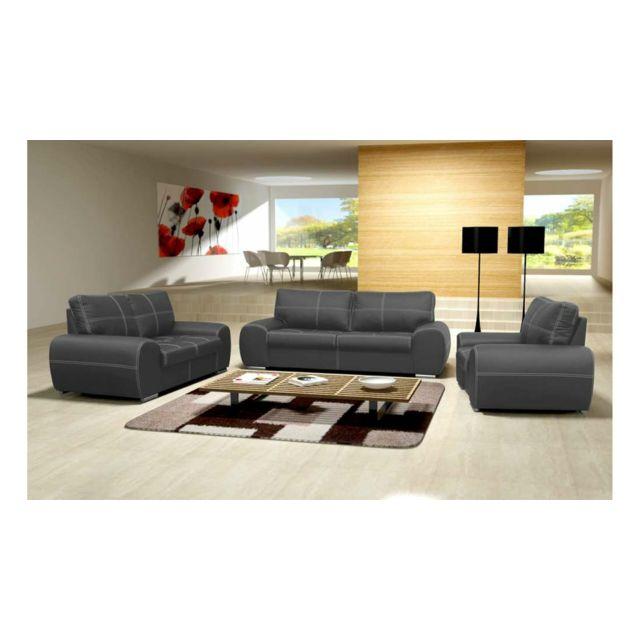 Justyou - Toffi Ensemble meubles de salon Gris - pas cher Achat ...