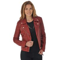 Serge Pariente - Blouson City girl quilt dark red