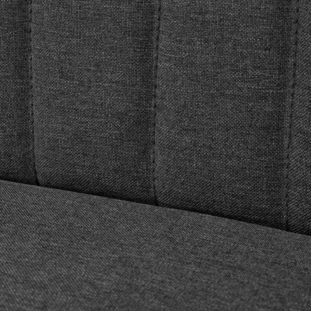 ICAVERNE Canapés reference Canapé 117 x 55,5 x 77 cm Tissu Gris foncé