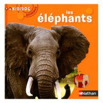 Nathan - Livre Kididoc Animaux : Les éléphants